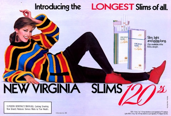 Virginia Slims 120's Advertisement